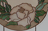 Ring of Roses, Original Stained Glass by Pat Benoit